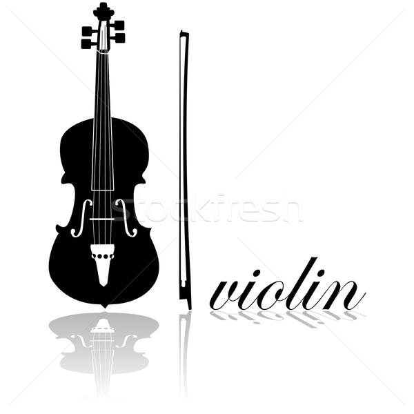 Violin icon Stock photo © bruno1998