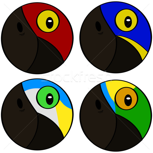 Stilizzato uccello icone segno verde Foto d'archivio © bruno1998