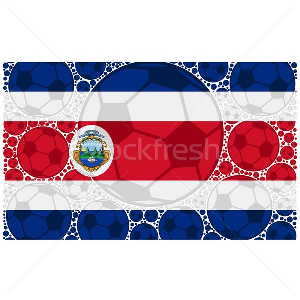 Costa Rica fútbol ilustración bandera Foto stock © bruno1998