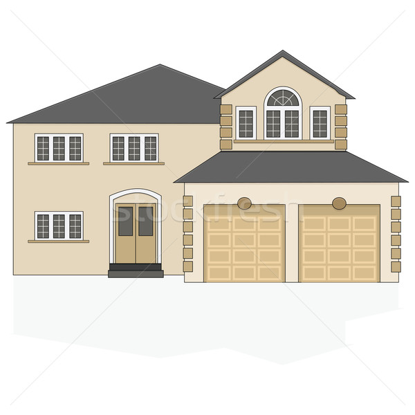 Stock photo: Suburban house