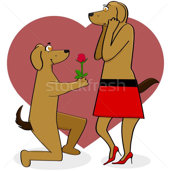 Cani amore cartoon illustrazione maschio Foto d'archivio © bruno1998