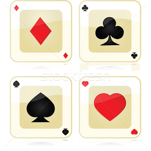 Playing card icons Stock photo © bruno1998