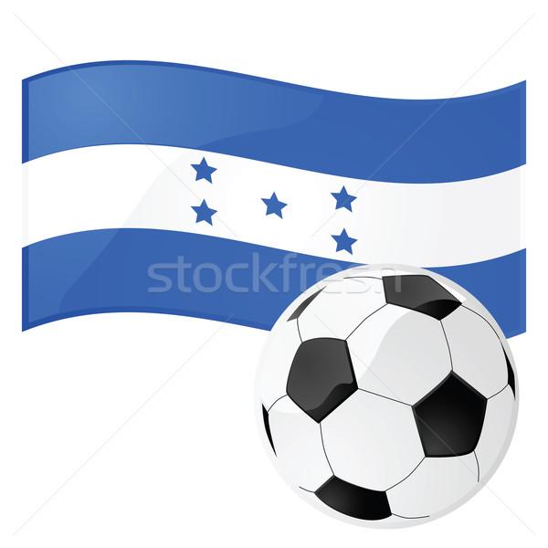 Honduras futebol ilustração bandeira futebol Foto stock © bruno1998