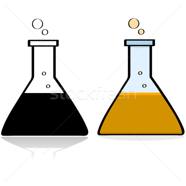 Laboratoire bécher cartoon illustration chimie Photo stock © bruno1998