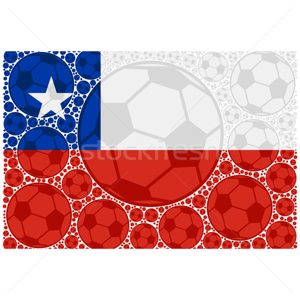 Chile soccer balls Stock photo © bruno1998