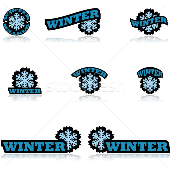 Winter icons Stock photo © bruno1998
