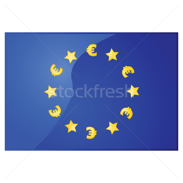 European Union EURO flag Stock photo © bruno1998