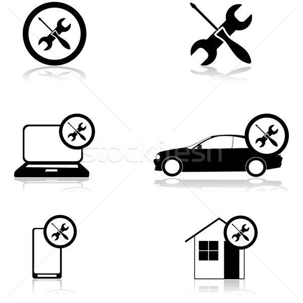 Fixing icons Stock photo © bruno1998