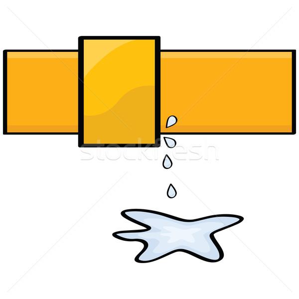 Su sızıntı karikatür örnek sanat grafik Stok fotoğraf © bruno1998