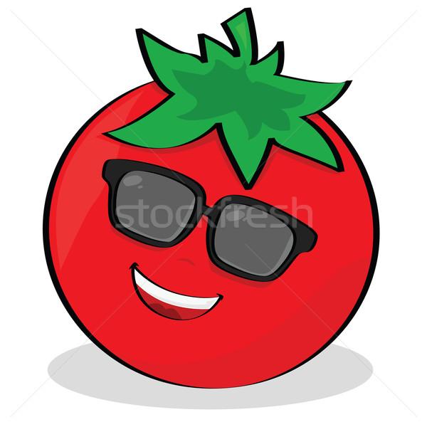 クール トマト 漫画 実例 着用 サングラス ストックフォト © bruno1998