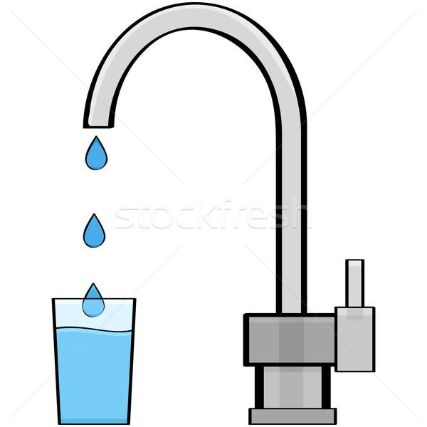 Csap víz rajz illusztráció mutat ki Stock fotó © bruno1998