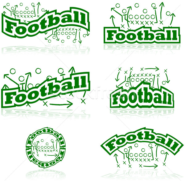 Football tactics icons Stock photo © bruno1998