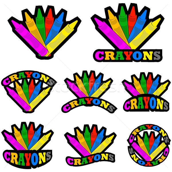 Crayons icônes différent Photo stock © bruno1998