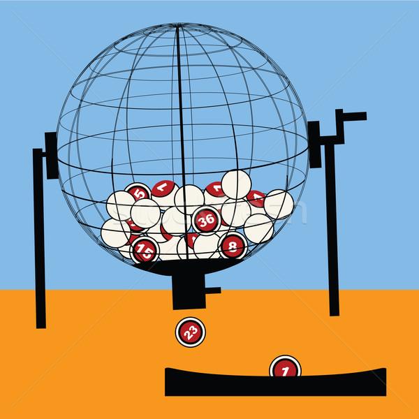 лотерея обратить Cartoon иллюстрация мира деньги Сток-фото © bruno1998