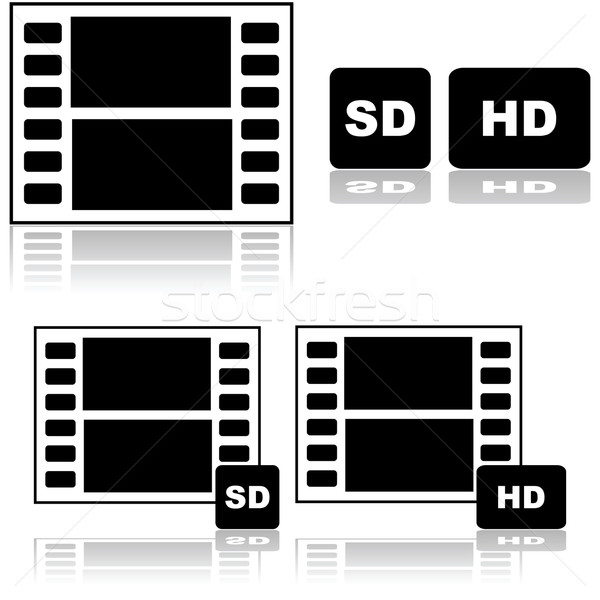 Standard and high definition movies Stock photo © bruno1998