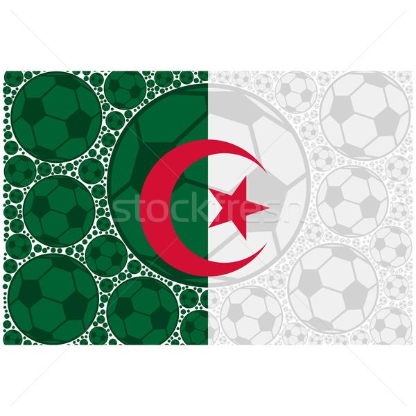 Algérie football illustration pavillon Photo stock © bruno1998