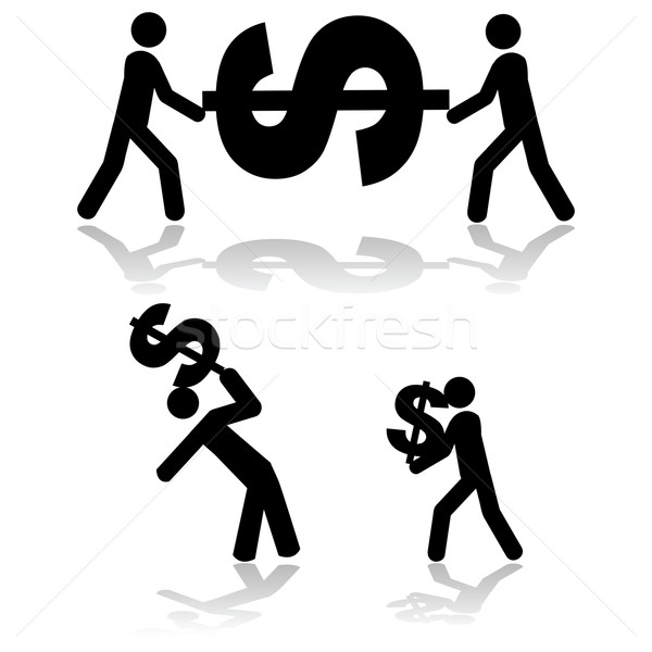 Stock photo: Carrying money