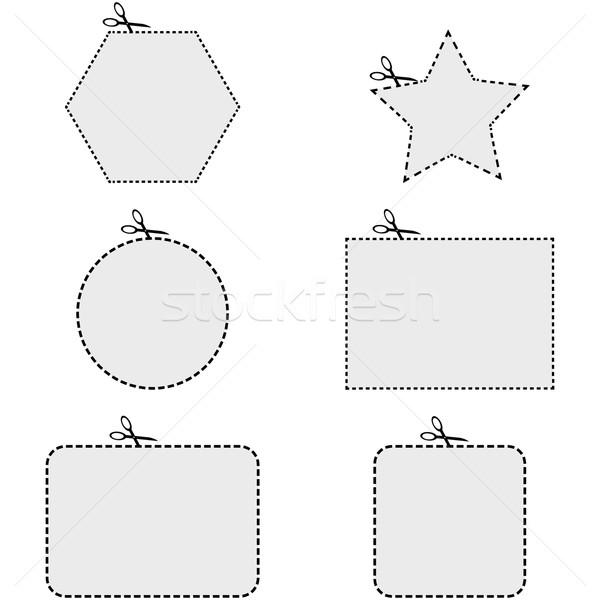 Coupon shapes Stock photo © bruno1998
