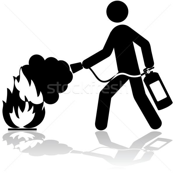 Extinguishing fire Stock photo © bruno1998