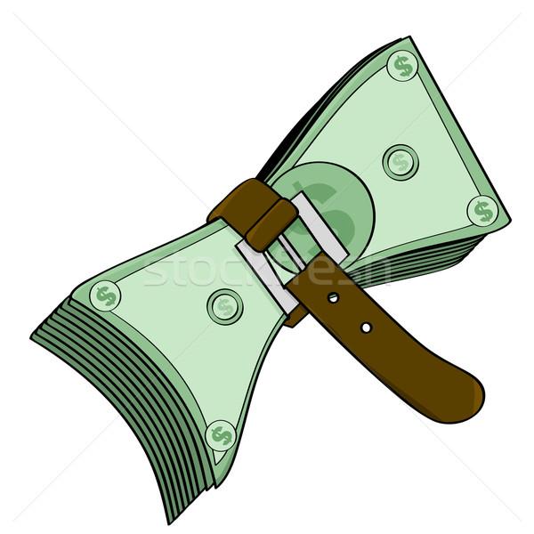 Stretto soldi illustrazione cintura in giro Foto d'archivio © bruno1998