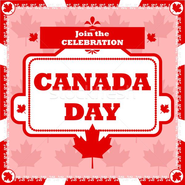 Kanada nap ünneplés illusztráció mutat poszter Stock fotó © bruno1998