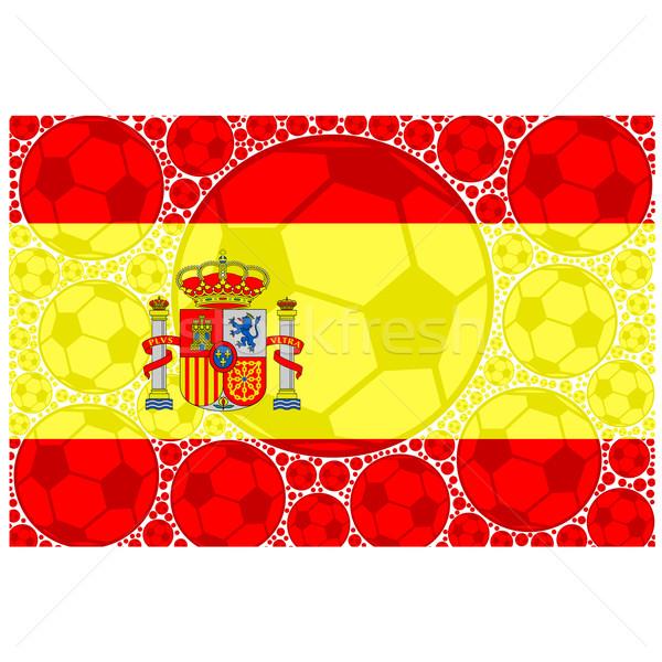Spanyolország futball golyók illusztráció mutat zászló Stock fotó © bruno1998