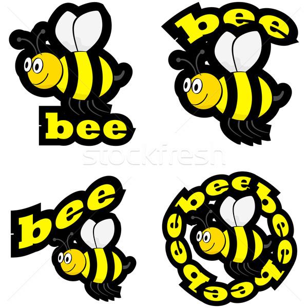 Bee icons Stock photo © bruno1998