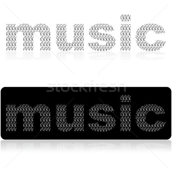 音楽 コンポーネント 実例 言葉 アップ ストックフォト © bruno1998
