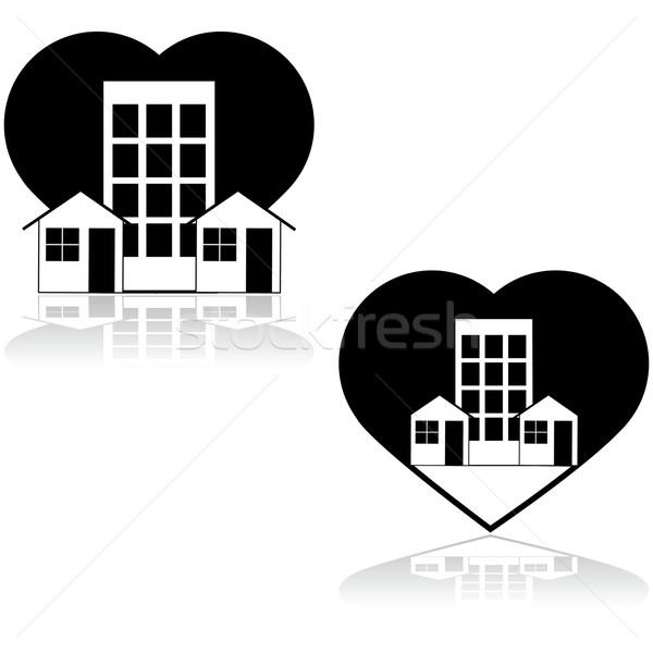 Neighborhood Love  Stock photo © bruno1998