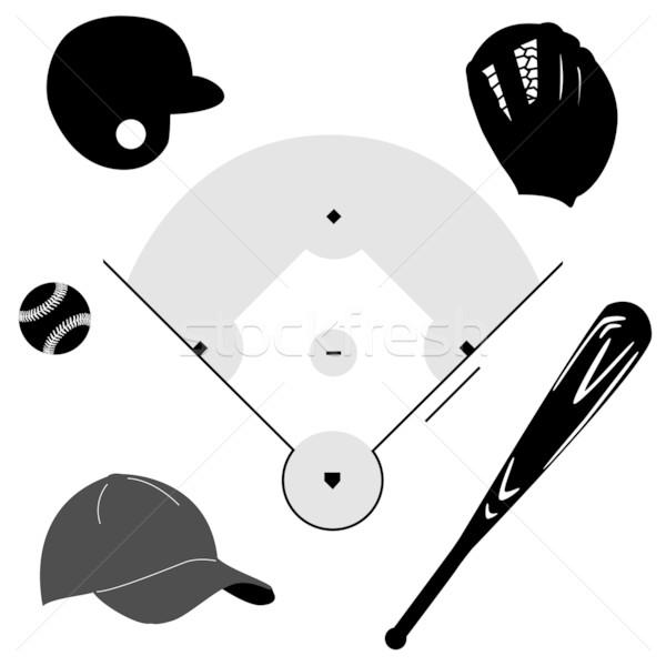 Baseball icons Stock photo © bruno1998
