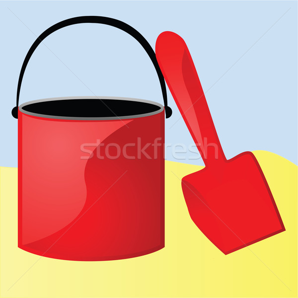 Bucket and shovel Stock photo © bruno1998