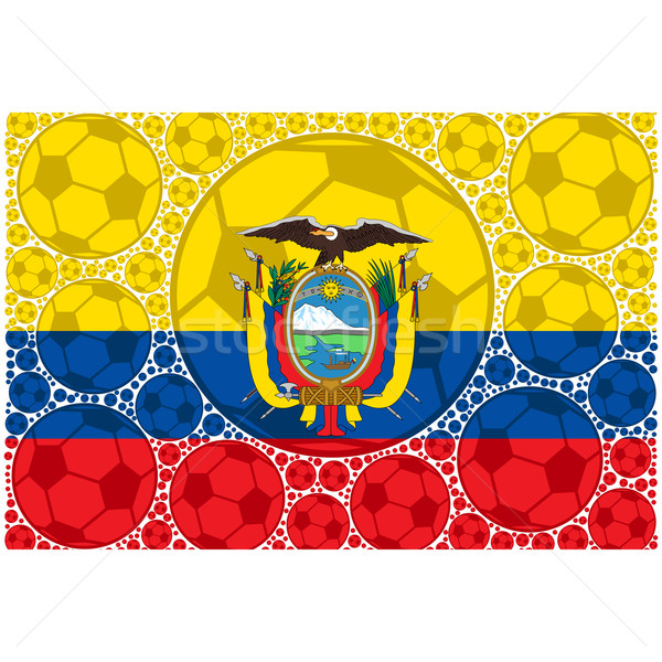 Equateur football illustration pavillon Photo stock © bruno1998