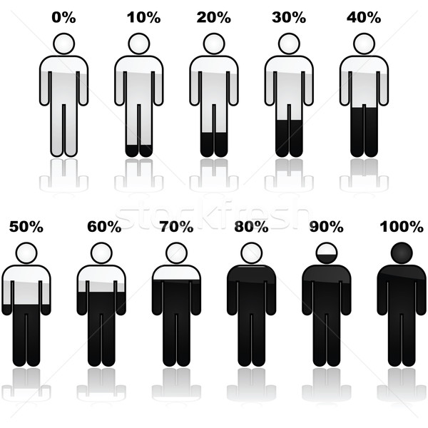 Percentage of people infographic icons Stock photo © bruno1998