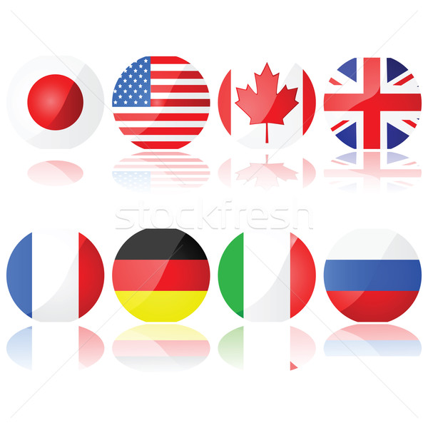 Stock photo: Group of 8 countries