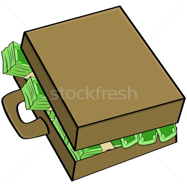 Money in suitcase Stock photo © bruno1998