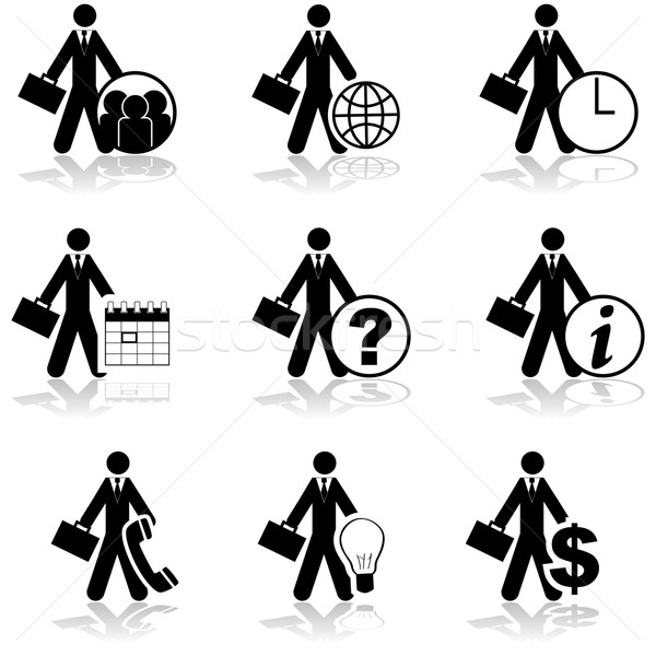 Businessman icons Stock photo © bruno1998