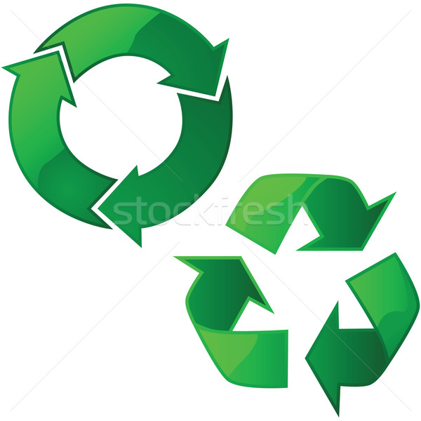 リサイクル 標識 実例 2 自然 ストックフォト © bruno1998