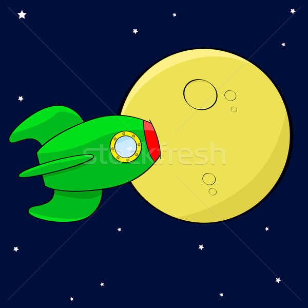 Rocket in the moon Stock photo © bruno1998