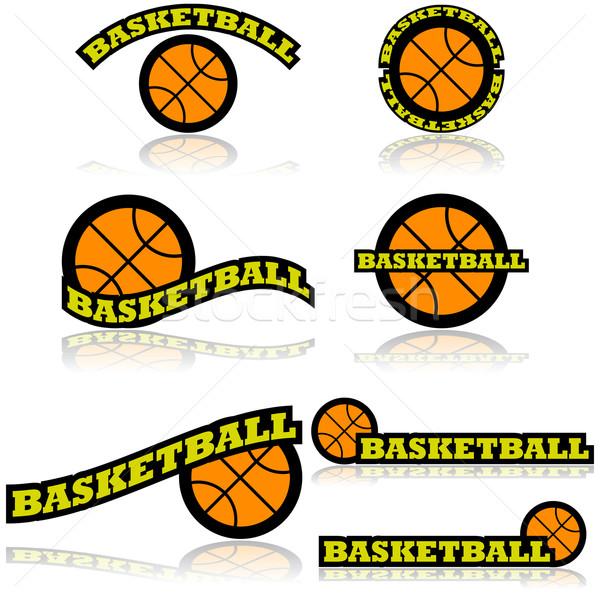 Basketball icons Stock photo © bruno1998