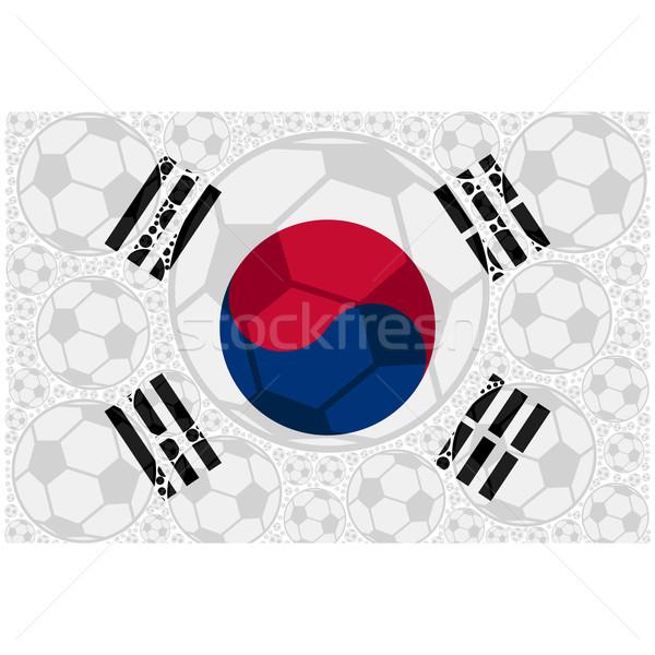 South Korea soccer balls Stock photo © bruno1998