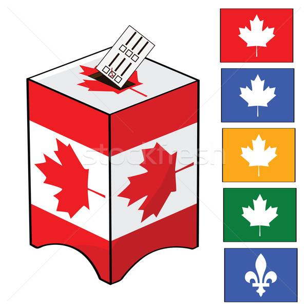 Canada élection illustration scrutin boîte drapeau canadien Photo stock © bruno1998