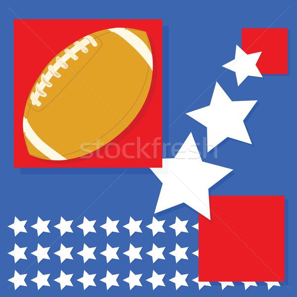 Amerikan futbol arka plan Amerika Birleşik Devletleri doku mavi Stok fotoğraf © bruno1998