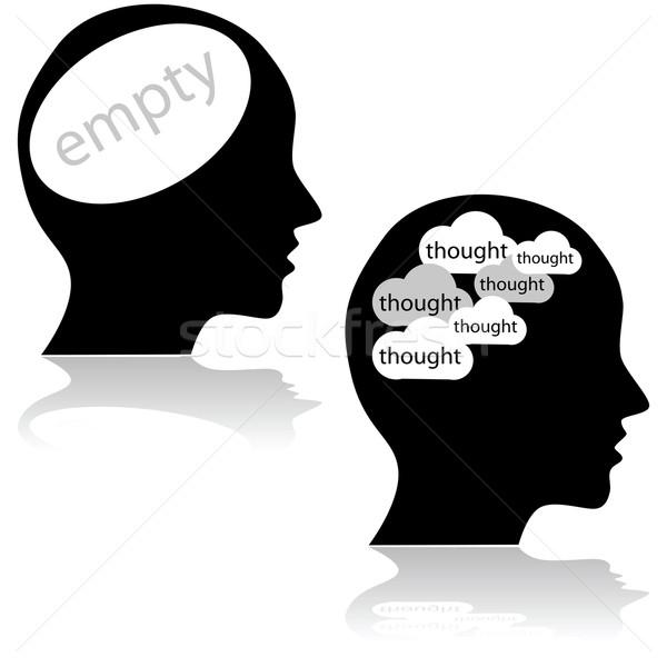 Vacío ocupado ilustración cabeza mente Foto stock © bruno1998