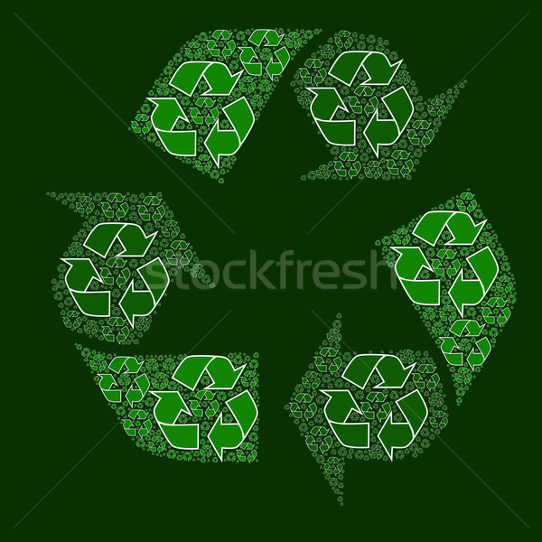 Composite recycling sign Stock photo © bruno1998
