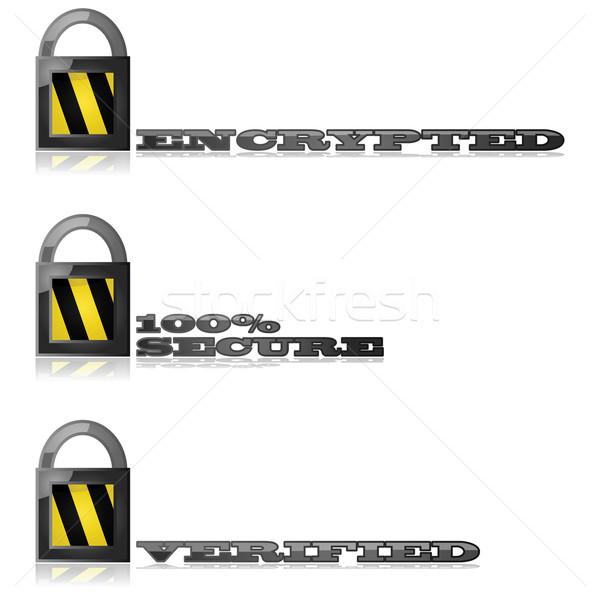 Bezpieczne ilustracja blokady Zdjęcia stock © bruno1998