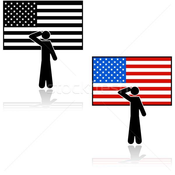 Patriota americano ilustração pessoa bandeira americana Foto stock © bruno1998