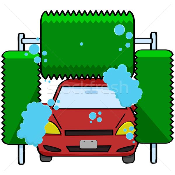 Lomtár rajz illusztráció autó bent gép Stock fotó © bruno1998