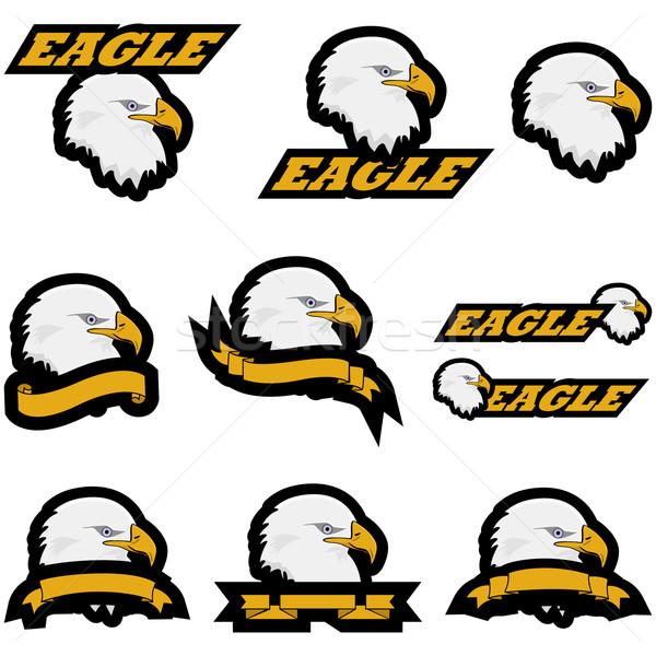 Eagle icons Stock photo © bruno1998