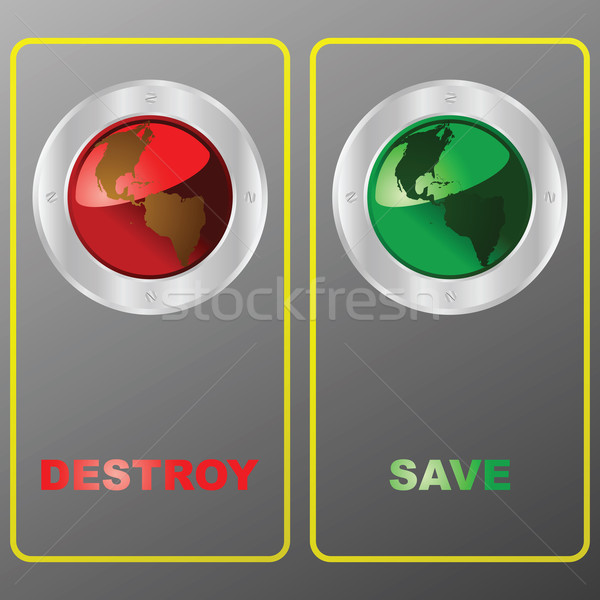 Destroy or save the planet Stock photo © bruno1998