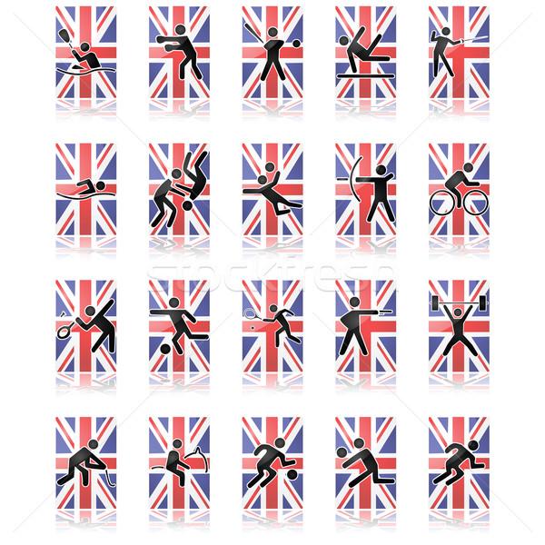 UK sport icons Stock photo © bruno1998